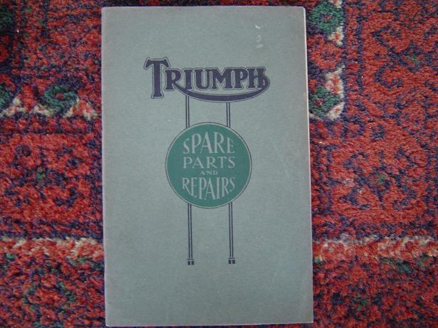 TRIUMPH  type P 1926 494 HP spare parts list