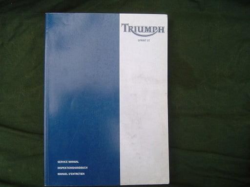 TRIUMPH Sprint ST  1998 955 cc 3 cil 12 valve dohc service manual