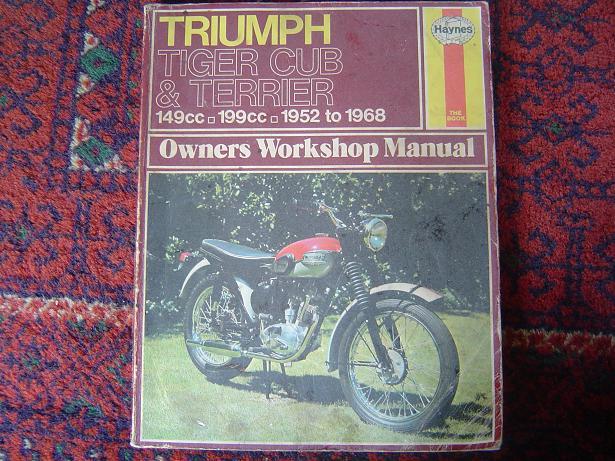 TRIUMPH tiger cub en terrier 1952 – 1968 Haynes 414 manual