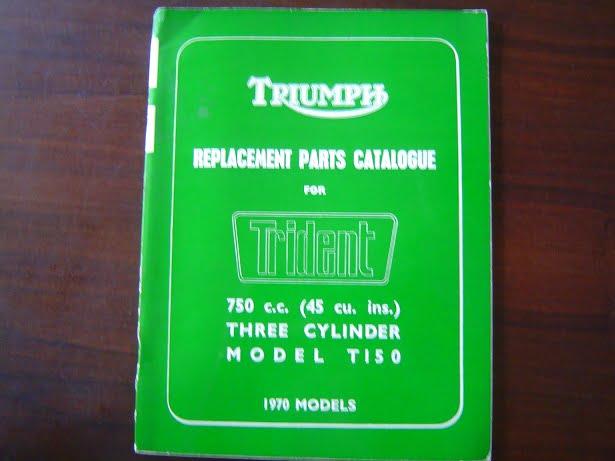 TRIUMPH 750 cc TRIDENT  T150 1970 models parts catalogue
