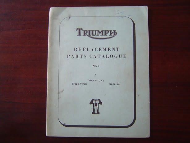 TRIUMPH 3TA 5TA T100A 1959 parts list speed twin tiger 100 twenty one