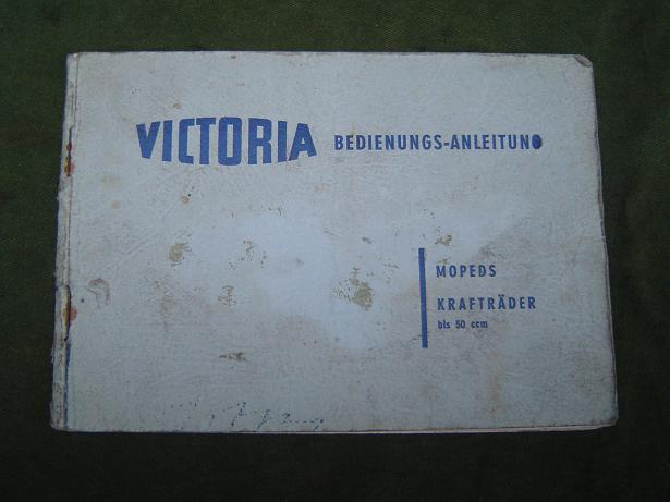 VICTORIA VICKY III  1954  typ  M51 bedienungs anleitung