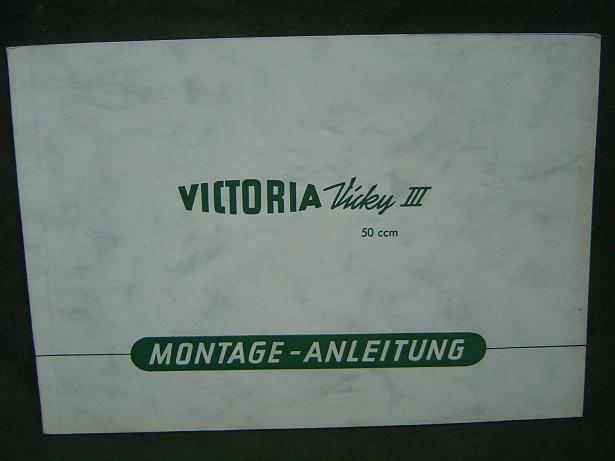 VICTORIA VICKY III  1954 50 cc montage anleitung