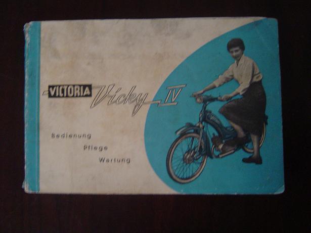 VICTORIA VICKY IV   1956  bedienung und pflege  instructie boekje