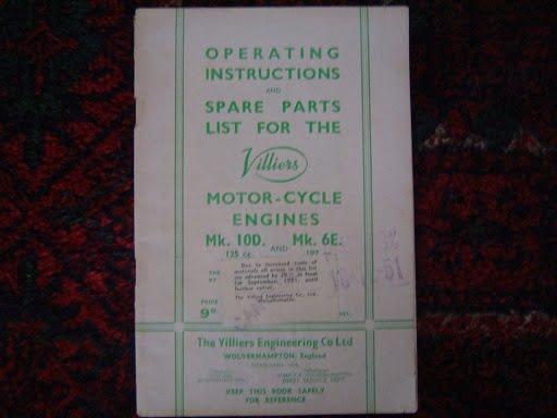 VILLIERS motorcycle engines MK 10D 125 cc en MK 6E 197 cc