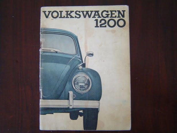 VOLKSWAGEN 1200 1963 limousine en cabriolet  handleiding