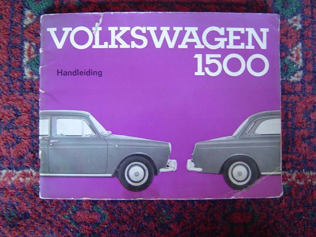 VOLKSWAGEN 1500 VW 1500 1962 handleiding