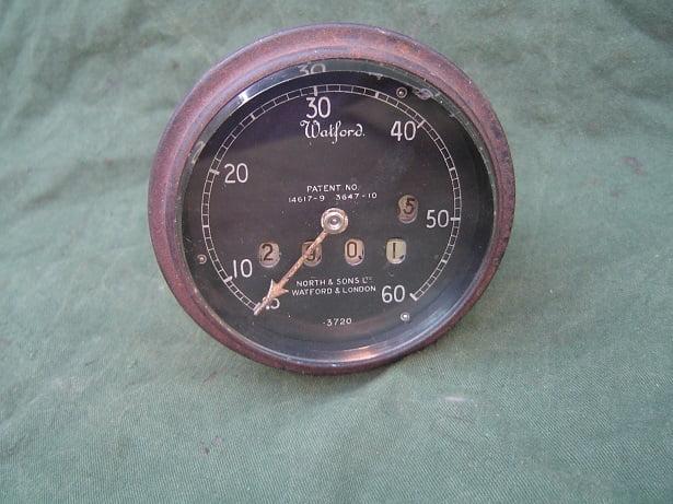 WATFORD 60 miles speedometer 1920's  teller  tachometer  speedo