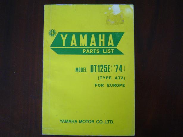YAMAHA DT125 1974  parts list  DT 125 onderdelen boekje AT2