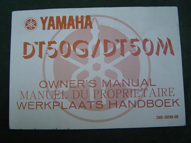 YAMAHA DT 50 G  DT50 M  1979 werkplaatshandboek owner 's manual