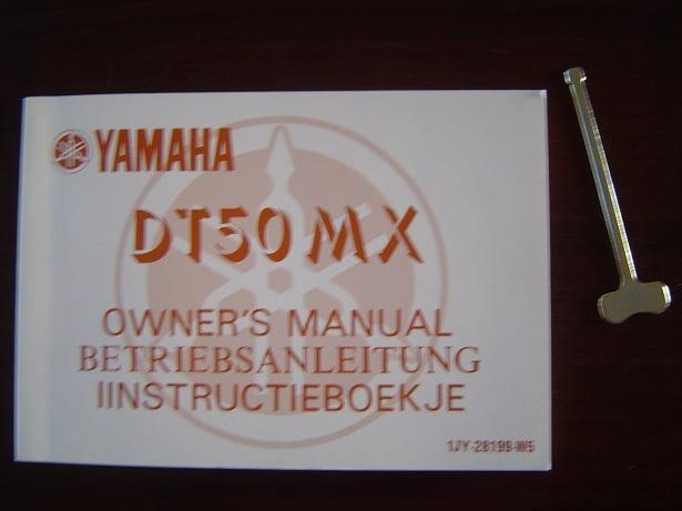 YAMAHA DT50 MX 1985  instructie boekje  owner 's manual DT 50MX