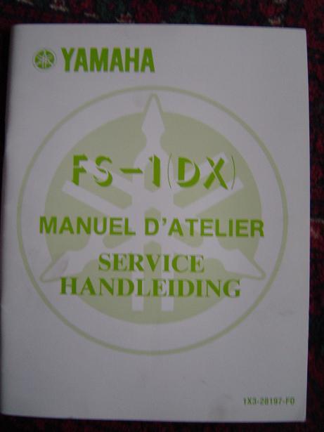 YAMAH FS1  1976  service handleiding