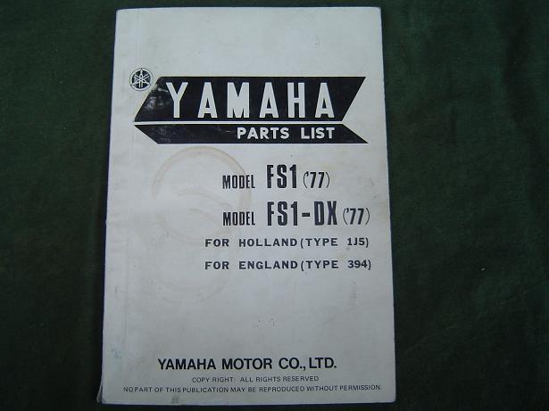 YAMAHA FS1 1977 en FS1 – DX 1977 parts list