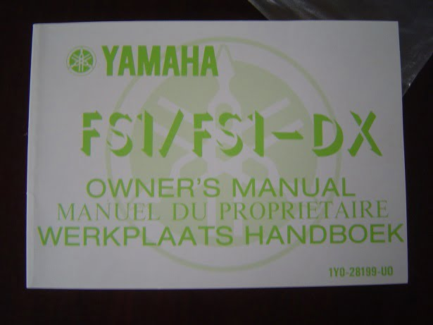YAMAHA FS1 / FS1-DX 1976 owner's manual instructie boekje