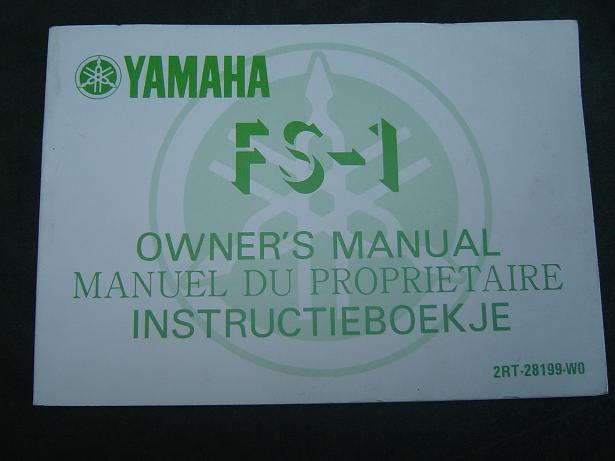 YAMAHA FS-1  1986  owner's manual  instructie boekje
