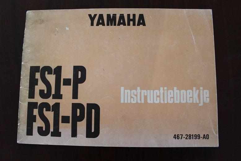 YAMAHA FS1 – P  en FS1 – PD 1973 instructie boekje FS1-P  FS1-PD
