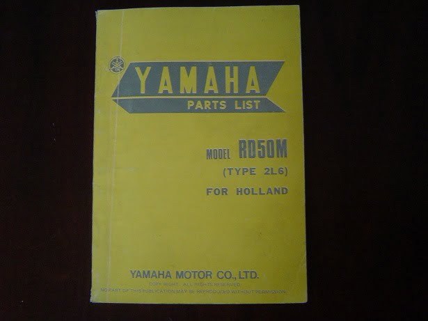 YAMAHA RD50M  1978 type 2L6 parts list RD 50 M