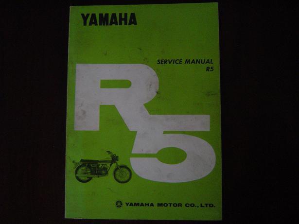 YAMAHA R5 350 cc twin 1970 service manual werkplaatsboek