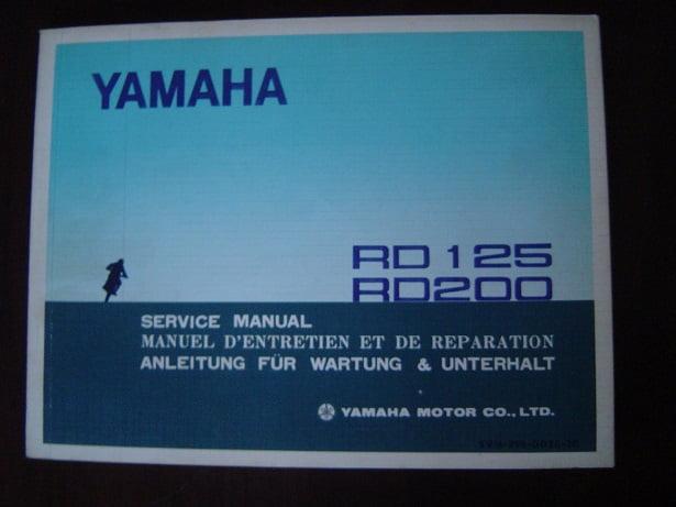 YAMAHA RD 125 RD 200 1973 service manual RD175 RD200 anleitung
