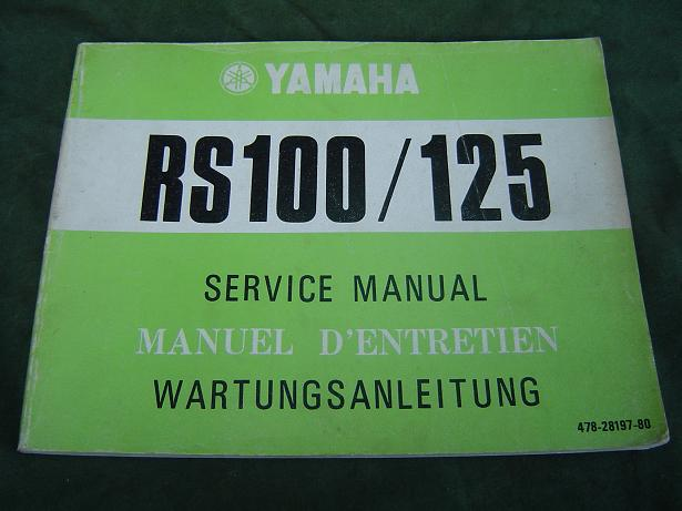 YAMAHA RS 100 RS 125   1974 service manual