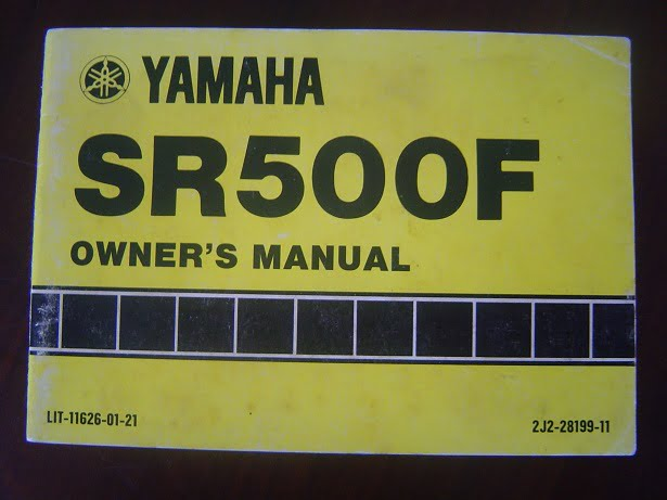 YAMAHA SR500F 1978 owner 's manual SR 500 instructie boekje
