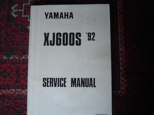 YAMAHA XJ 600 S 1992 service manual