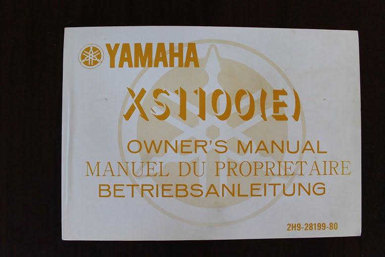 YAMAHA XS1100 E 1978 owner's manual betriebsanleitung XS 1100