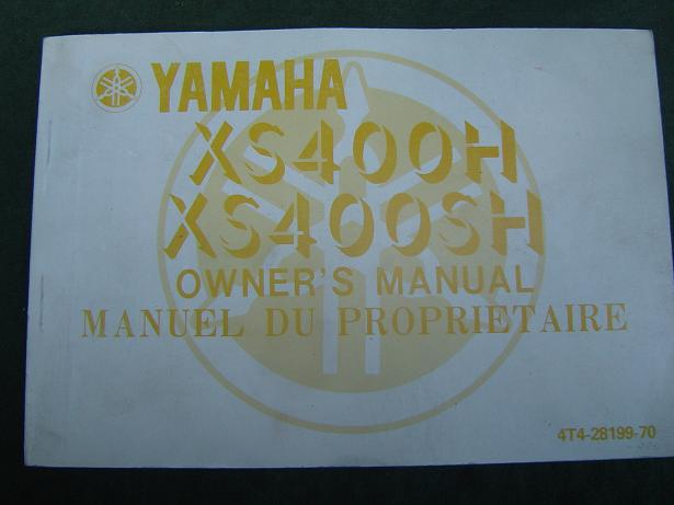 YAMAHA XS 400 H en SH 1980 owner's manual
