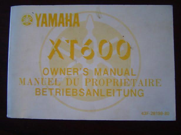 YAMAHA XT600 1983 owner's manual XT 600 betriebsanleitung