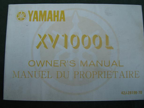 YAMAHA XV 1000 L 1983 owner's manual