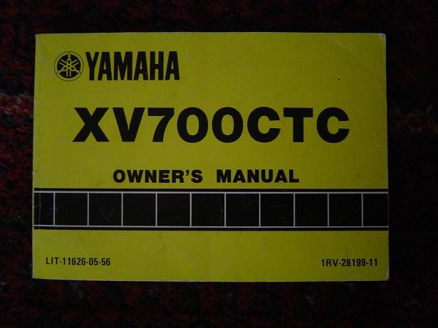 YAMAHA XV 700 TC  1986 owner's manual XV700TC
