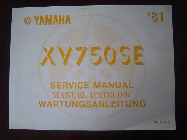 YAMAHA XV750 SE 1981 service manual XV 750 wartungsanleitung