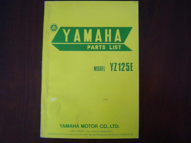 YAMAHA YZ125E  1977 parts list  YZ 125 E onderdelen boekje