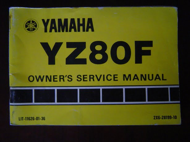 YAMAHA YZ80F 1978 owner 's manual  YZ 80 F