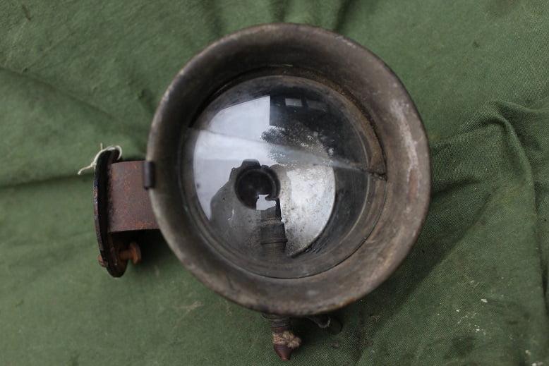 MILLER 1920's acetylene side car lamp zijspan lamp beiwagen karbidlampe