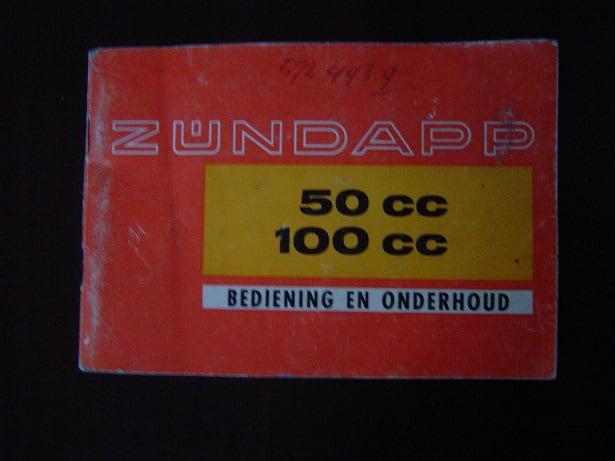 ZÜNDAPP typ 517 KS50 C50 KS100 handleiding instructie boekje