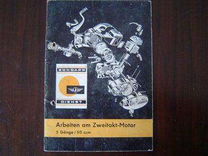 ZÜNDAPP  arbeiten am 5 gang 50 cc zweitakt motor 1965