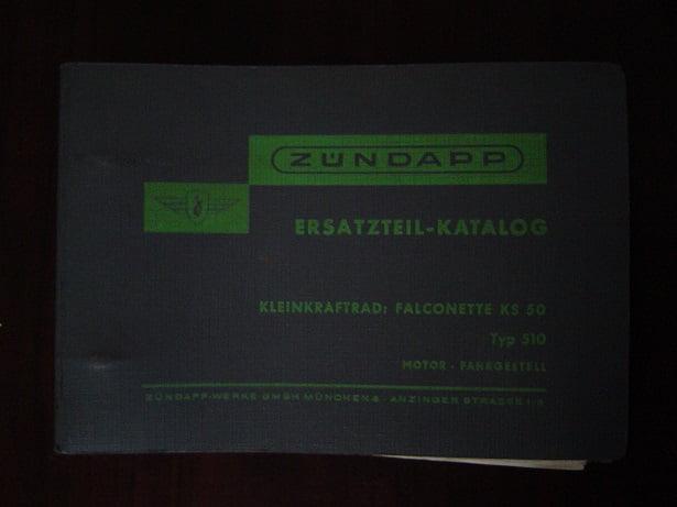 ZÜNDAPP KS50 typ 520 4 gang ersatzteil katalog KS 50 Falconette