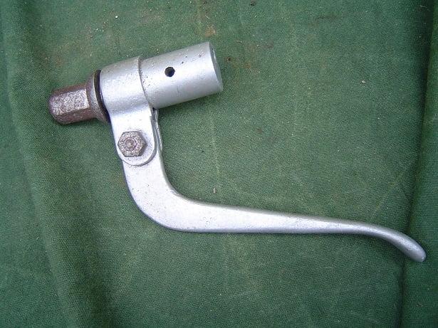 aluminium insteek hendel jaren 30 inverted motorcycle lever innenzughebel mito ??