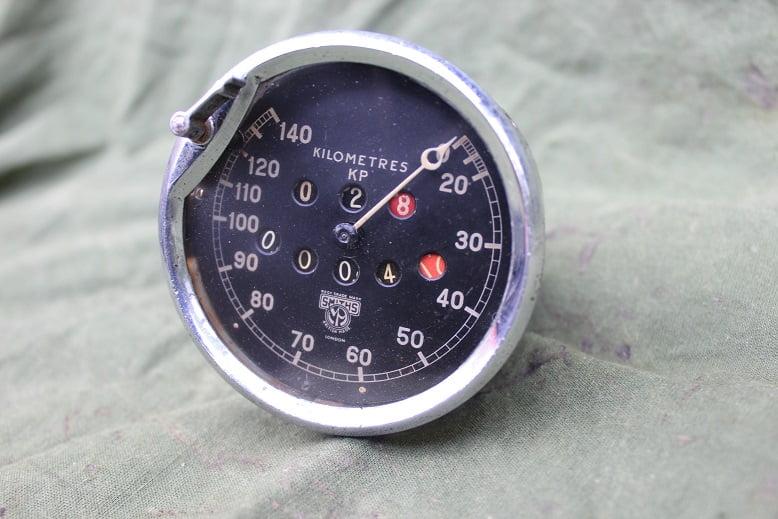 SMITHS  1930's 140 KM speedometer kilometer teller model KP voor  ARIEL ??  AJS ?? SOLD