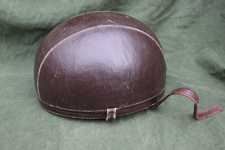 motorfietshelm jaren 40 motorcycle helmet 1940's ? France ?