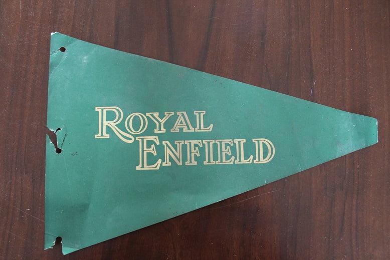ROYAL ENFIELD papieren vlag paper advertisement flag 1950's