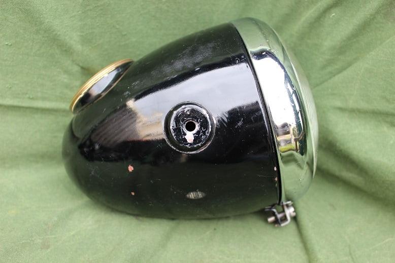 HELLA motorfiets koplamp jaren 50 met 120 KM teller motorcycle headlamp 1950's