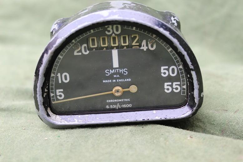 SMITHS S531/L – 1600  55 Mph D type chronometric speedometer S 531 mijlen teller