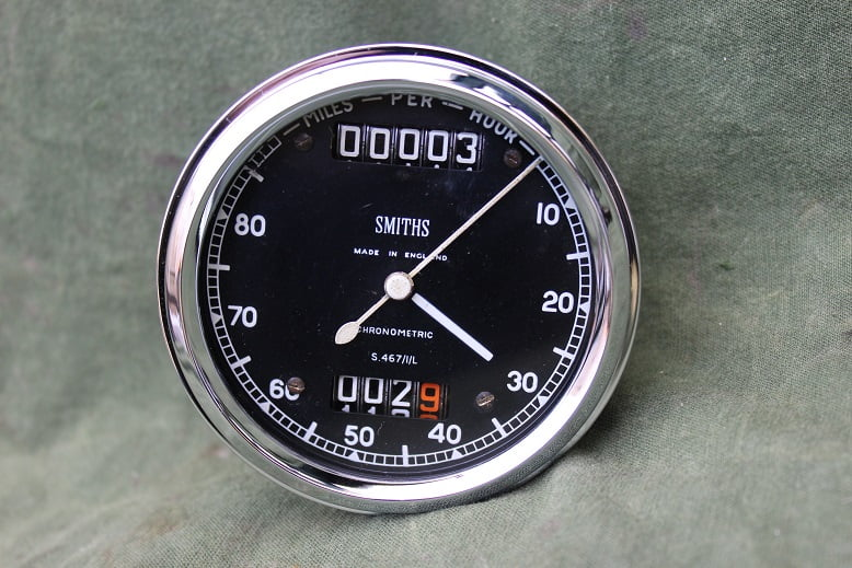 SMITHS S467/1/L 80 miles chronometric speedometer tacho mijlen teller S 467 / 1 / L