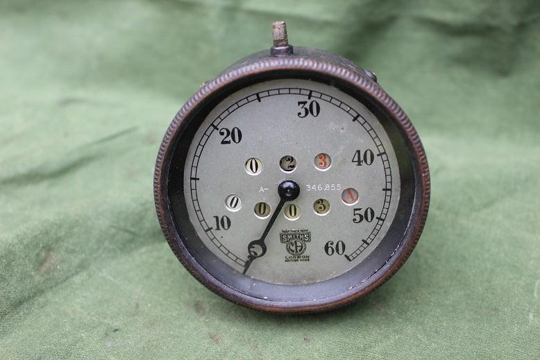 SMITHS 60 miles 1920's speedometer mijlenteller jaren 20 met dagteller