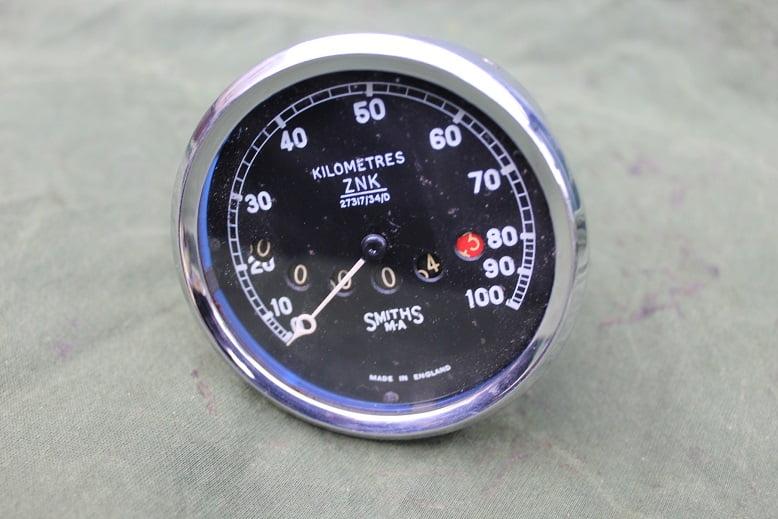 SMITHS MA 100 KM model ZNK kilometerteller speedometer tacho 1930's / 1940's