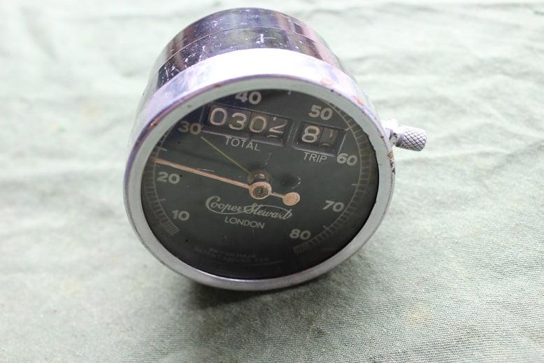 COOPER STEWART 80 miles motorcycle speedometer 1920/1930 tacho