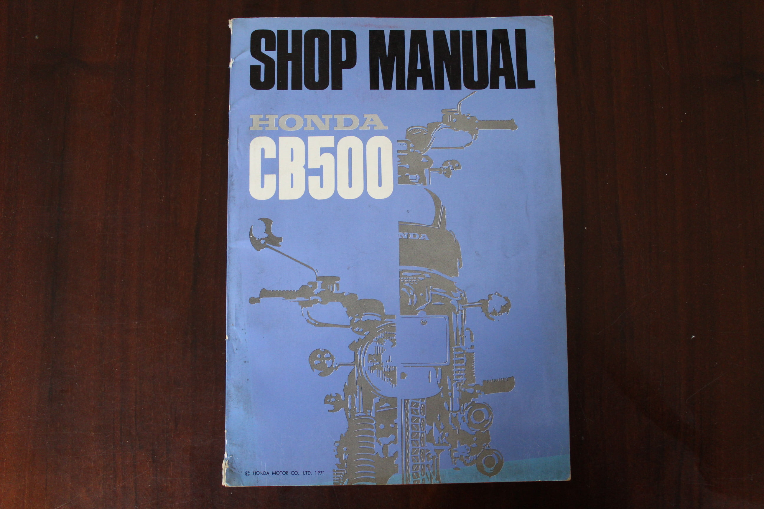 Honda Cb500 1971 Shop Manual Cb 500 Four Sohc
