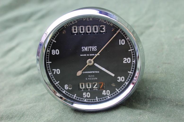 SMITHS S433/1/N 80 miles chronometric speedometer mijlen teller tacho